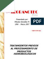 Tratamientos Previos Al Procesamiento de Productos Hidrobiologicos