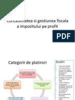 Contabilitatea si gestiunea fiscala a impozitului pe profit