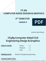 Lecture 1 - Introduction to autoCAD  (1)