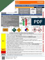 FICHA ACTUACIÓN EN CASO DE EMERGENCIA (OXÍGENO) CPB-001-2019