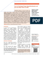 Evaluation of Risk Factors for Exchange