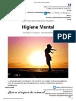 Higiene Mental - Mundo Meditación