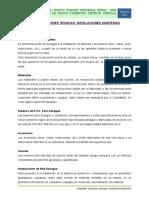 ESPECIFICACIONES INST. SANITARIAS