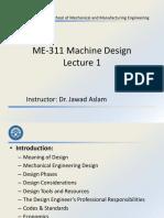 ME-311 Machine Design - Lecture 1