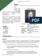 Thomas Malthus – Wikipédia, a enciclopédia livre