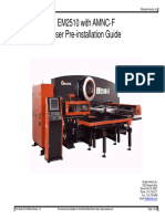 AMADA EM2510 with AMNC-F User Pre-installation Guide Manual