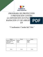 Protocolo Radiacion UV