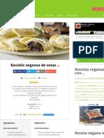 Raviolis veganos de setas - Recetas veganas
