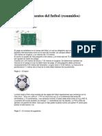 los 17 reglamentos del futbol