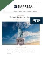 Ética es libertad, no disney – ACDE Empresa