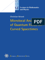 (ESI Lectures in Mathematics and Physics) Christian Gérard - Microlocal Analysis of Quantum Fields on Curved Spacetimes-European Mathematical Society (2019)