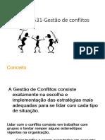 Gestao de conflitos