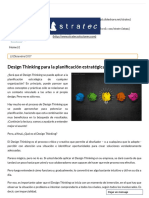 Design Thinking para la planificación estratégica