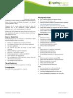 Core Spring Datasheet