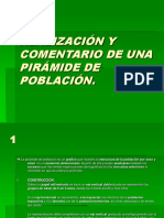 REALIZACIÓN Y COMENTARIO DE UNA PIRÁMIDE DE POBLACIÓN