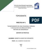 Práctica I (Levantamiento de una Poligonal  por el Método de Diagonales)