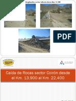 Caida de Rocas Plataforma STR Post-Terremoto 16-09-2015