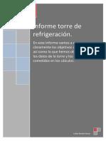 informe torre de refrigeración