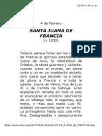 Santa Juana de Francia
