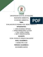 evaluacion economica del medio ambiente
