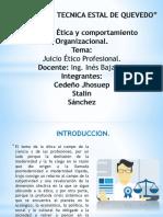 ETICA Y COMPORTAMIENTO ORGANIZACIONAL
