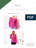 Blusa Claudia __ Receta + Video - Blog-By-Day