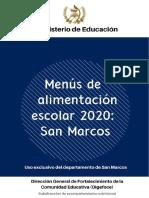 17 MENUS ESCOLARES 2020 SAN MARCOS