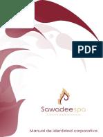 manual de identidad corporativa Sawadee Spa