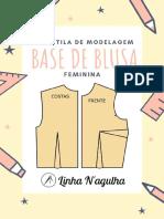 Apostila de Modelagem - Base de Blusa Feminina Linha N'agulha