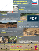 Top-5 High Risk During Rainy Season