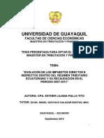 Evolución de los Impuestos Directos e Indirectos dentro del Régimen Tributario Ecuatoriano y su Recaudación en periodo 2007 -2012