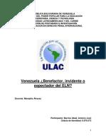 Venezuela ¿Benefactor, invidente o espectador del ELN