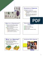 Species, Speciation, Evolution