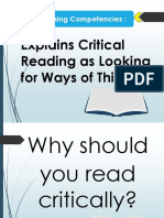 Critical Reading as Looking for Ways of Thinking.pptx