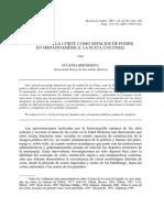 La Ciudad y La Corte Como Espacio de Poder en Hispanoamérica