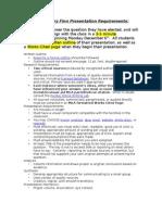 Huckleberry Finn Presentation Requirements