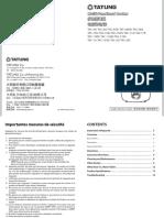 Multi-Functional Rice Cooker User Manual (English)