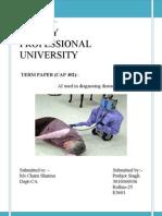 AI used in diagnosing diseases