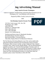 Fair Housing Council of Greater Washington Ad Manual (1996)