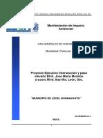 MIA. Intersección y Paso Elevado, Morelos Ibarrilla, León, Gtp. Mod. Part. 11GU2012UD001