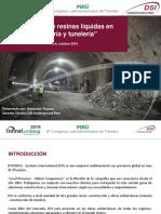 """""""Inyección de resinas líquidas en minería y tunelería"""""""