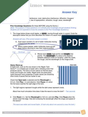 Rippletankse Key Pdf Wavelength Diffraction