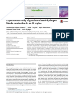 Experimental study of gasoline-ethanol-hydrogen blends combustion in an SI engine