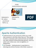 Authentication in apache