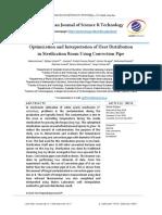 Optimization and Interpretation of Heat Distribution in Sterilization Room Using Convection Pipe