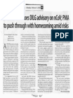 Business Mirror, Feb. 3, 2020, Lawmaker echoes DILG advisory on nCoV PMA to push through with homecoming amid risks.pdf
