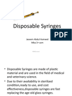 MSME Disposable Syringes