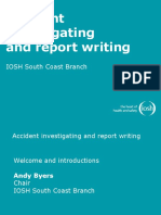 Accident investigating and report writing