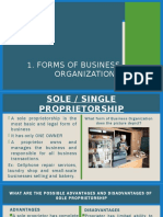 Forms of Business Org. CSR