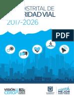 Plan de desarrollo de seguridad vial - Bogotá